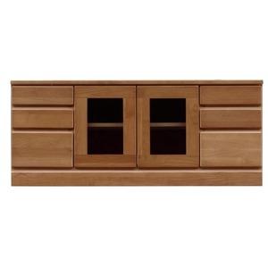その他 3段ローボード/テレビ台 【幅120cm】 木製 扉収納付き 日本製 ブラウン 【完成品】 ds-1753256
