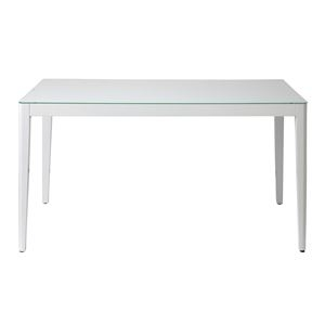 その他 あずま工芸 ダイニングテーブル 幅135cmガラス天板 ホワイト【2梱包】 GDT-7671 ds-1754113