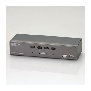 その他 エレコム パソコン切替器 KVM-NVU4 ds-1756888