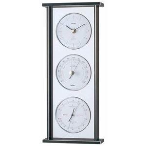 その他 EMPEX スーパーEX ギャラリー気象計・時計 EX-793 シルバー ds-1762586