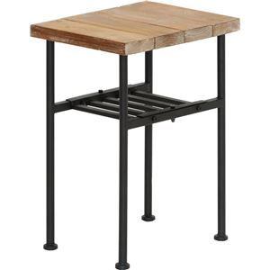 その他 サイドテーブル(ミニテーブル/コーヒーテーブル) JOKER 幅30cm 木製/杉古材×スチール 収納棚付き 木目調 ds-1806893