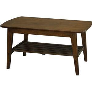 その他 センターテーブル/リビングテーブル ロージー 【幅105cm】 木製 収納棚付き 木目調 ds-1806907
