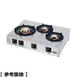 TKG (Total Kitchen Goods) ガステーブルコンロ親子三口コンロ(M-213C 13A) DKV2205