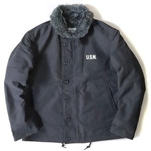 その他 USタイプ 「N-1」 DECK ジャケット ブラック(裏ボアグレー)38(L)サイズ【レプリカ】 ds-1809759