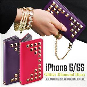 その他 GAZE iPhone5/5s Glitter Diamond Diary ピンク ds-1823213
