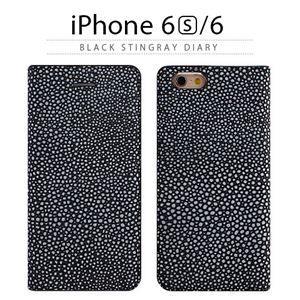 その他 GAZE iPhone6/6S Black Stingray Diary ds-1823220