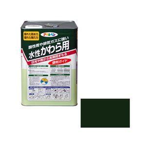 その他 アサヒペン AP 水性かわら用 14L アイリッシュグリーン ds-1828758
