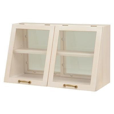 HAGIHARA(ハギハラ) カウンター上ガラスケース(ウォッシュホワイト) MUD-6068WS 2101651600