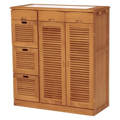 HAGIHARA(ハギハラ) キッチンカウンター(ライトブラウン) MUD-6828LBR 2101722700