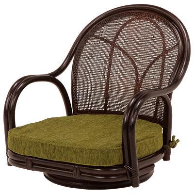 HAGIHARA(ハギハラ) 【2個セット】回転座椅子(ダークブラウン) RZ-341DBR 2101484400