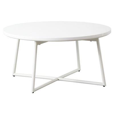 岩附 円形 鏡面テーブル 完成品 IWT-632-WH