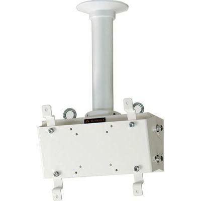 オーロラ 小~中型モニタ対応 天吊りハンガー ホワイト FH-101_C_SET