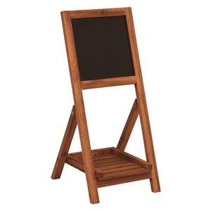 その他 黒板付き木製スタンド 【折りたたみ式】 幅30cm×奥行35.5cm×高さ68cm 木製 ds-1831865