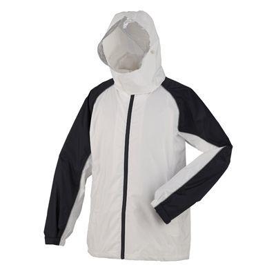 スミクラ 防水透湿 レインスーツ ホワイト LL (170~180cm) 全2色 7サイズ 収納袋付き 2層レイヤー EE-04171