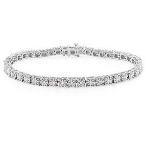 その他 ダイヤモンド(0.25ct I3透明度)ブレスレット、17.78センチ、スターリングシルバー ds-1852607