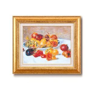 その他 名画額縁/フレームセット 【F6号】 ルノワール 「南仏の果実」 460×552×55mm 壁掛けひも付き 金フレーム ds-1866825