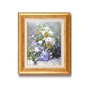 その他 名画額縁/フレームセット 【F6号】 ルノワール 「花瓶の花」 460×552×55mm 壁掛けひも付き 金フレーム ds-1866826