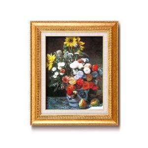 その他 名画額縁/フレームセット 【F6号】 ルノワール 「花束」 460×552×55mm 壁掛けひも付き 金フレーム ds-1866827