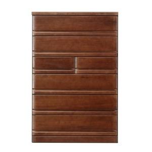 その他 ハイチェスト/収納棚 【6段/幅90cm】 ブラウン 『クエスト』 木製 長引出フルオープンレール付き ds-1867688