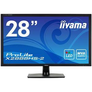 その他 iiyama 28型ワイド液晶ディスプレイ ProLite X2888HS-2 (MVA、LED)マーベルブラック X2888HS-B2 ds-1891550