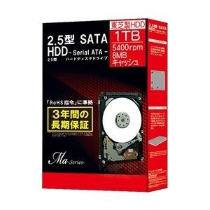 その他 東芝 2.5インチ内蔵HDD Ma Series 1TB 5400rpm 8MBバッファSATA300 MQ01ABD100BOX ds-1894599