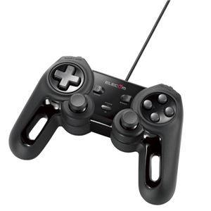 その他 エレコム USBゲームパッド/13ボタン/Xinput/振動/連射/高耐久/ブラック JC-U4013SBK ds-1891020