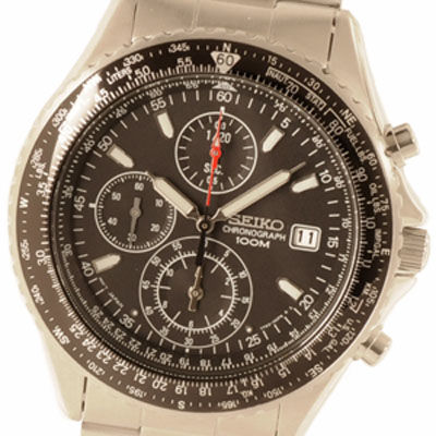SEIKO セイコー 海外モデル パイロットクロノ SND253P1 メンズ腕時計 ブラック セイコーウオッチ SESND253P1
