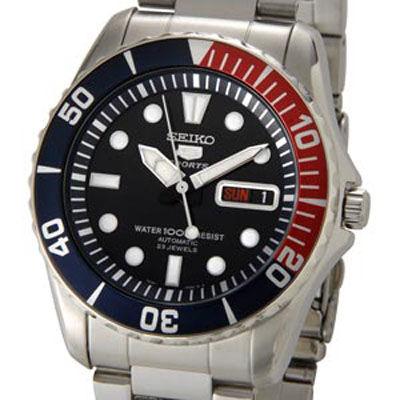 SEIKO セイコー セイコーファイブ SEIKO5 腕時計 自動巻き ブラック メンズ セイコーウオッチ SESNZF15J1