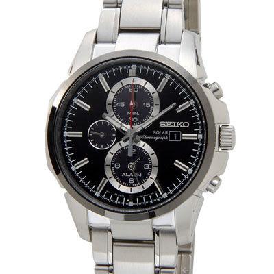 SEIKO セイコー SSC087P1 クロノグラフ メンズ 腕時計 ブラック SESSC087P1