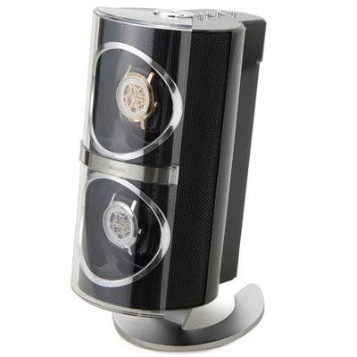 ロイヤルハウゼン ワインディングマシーン 2本巻 メタリック ウォッチワインダー ブラック SR091BK