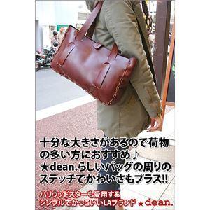 その他 ★dean(ディーン) small whip stitched tote トートバッグ tan(赤茶) ds-1912104