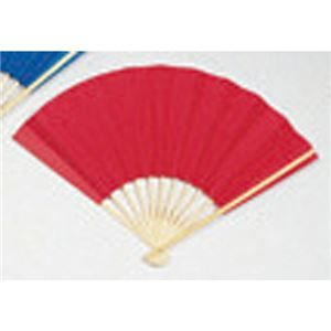 その他 (業務用20セット) ゴークラ カラー扇子 赤 ds-1913899