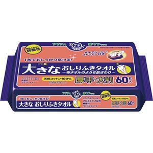 その他 (業務用20セット) 日本製紙クレシア アクティ大きなおしりふきタオル 60枚入 ds-1914605