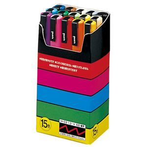 その他 三菱鉛筆 ポスカ PC3M15 細字 15色セット 5組 ds-1916240