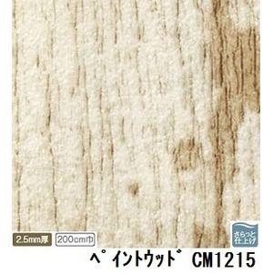 その他 サンゲツ 店舗用クッションフロア ペイントウッド 品番CM-1215 サイズ 200cm巾×10m ds-1921147