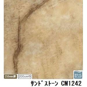 その他 サンゲツ 店舗用クッションフロア サンドストーン 品番CM-1242 サイズ 200cm巾×5m ds-1921292