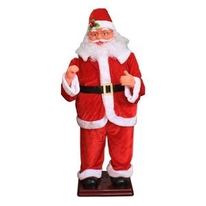 その他 ダンシングサンタ/クリスマス用品 【130cm】 MUSIC1曲 光センサー付き 電動 〔イベント パーティー〕 ds-984221