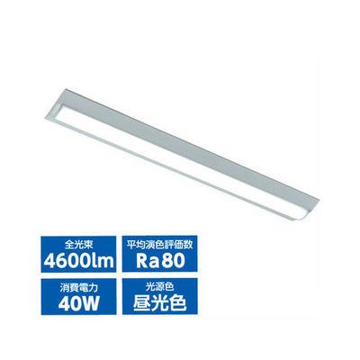 オーム電機 LEDベースライト40W2灯相当(昼光色) LT-B4000C2-D