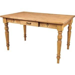 その他 レトロ調ダイニングテーブル/リビングテーブル 【幅120cm】 天然木(パイン) 引き出し収納付き CFS-771 ds-1937166