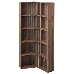 その他 木製トレノ ボックスシェルフ(食器棚/本棚) 幅80cm ハイタイプ 開閉可 CCR-117 〔ディスプレイ家具 什器〕 ds-1937155
