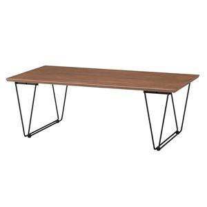 その他 デザインコーヒーテーブル/ローテーブル 【幅110cm】 スチール脚 ブラウン 『アーロン』 END-221BR ds-1937233
