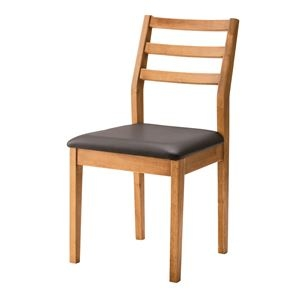 その他 木目調ダイニングチェア/リビングチェア 【座面高45cm】 木製 天然木 張地:合成皮革/合皮 NET-720 ds-1937446