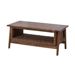その他 アジアンテイストコーヒーテーブル/ローテーブル 【幅100cm】 木製 マホガニー・アバカ NRS-454 ds-1937458
