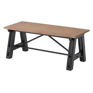 その他 ウッディテイストコーヒーテーブル/センターテーブル 【幅100cm】 木製 天然木 NW-855 〔インテリア家具 什器〕 ds-1937472