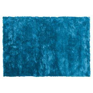 その他 シャギーラグマット/絨毯 【190cm×130cm ブルー】 長方形 裏面滑り止め加工 RG-23BL ds-1937626