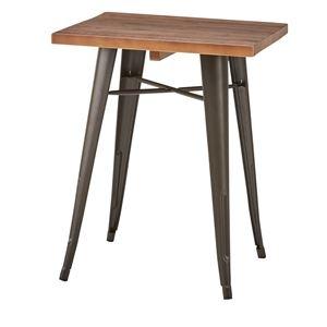 その他 木製ダイニングテーブル/リビングテーブル 【正方形 幅60cm×60cm】 天然木×スチール WPS-347 ds-1937977