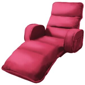 その他 収納簡単低反発もこもこ座椅子 ひじ付きタイプ ピンク ds-1938040