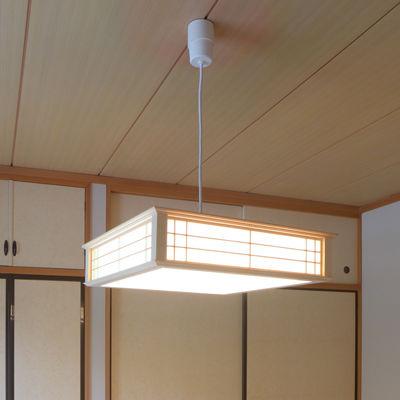 オーム電機 LED和風ペンダントライト 調光 8畳用 昼光色 (06-0662) LT-W30D8K-K