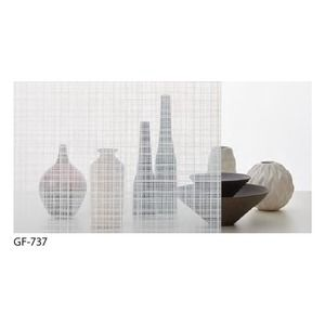 その他 ファブリック 飛散防止ガラスフィルム サンゲツ GF-737 92cm巾 10m巻 ds-1942310