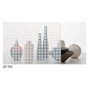 その他 幾何柄 飛散防止ガラスフィルム サンゲツ GF-743 91cm巾 7m巻 ds-1942367